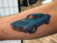 Colour realism hot rod